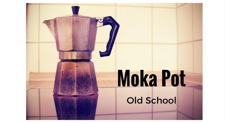 Old school moka pot