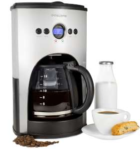 Andrew James 1100 Watt Digital Filter Coffee Maker With Fully Programmable Function Reusable Mesh Filter