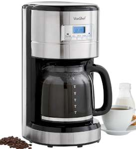 VonShef 1000W Programmable Digital Filter Coffee Maker 13:167
